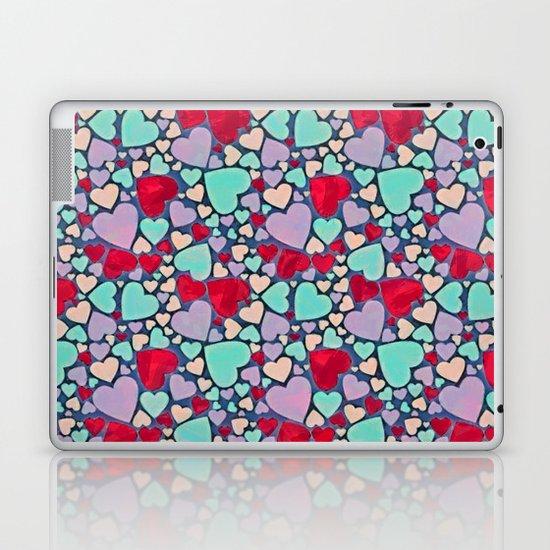 Sweet hearts mosaic pattern Laptop & iPad Skin