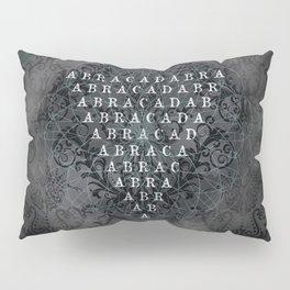 Abracadabra Reversed Pyramid in Charcoal Black Pillow Sham
