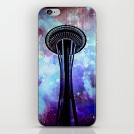 Space Needle - Seattle Stars Clouds Fog iPhone Skin