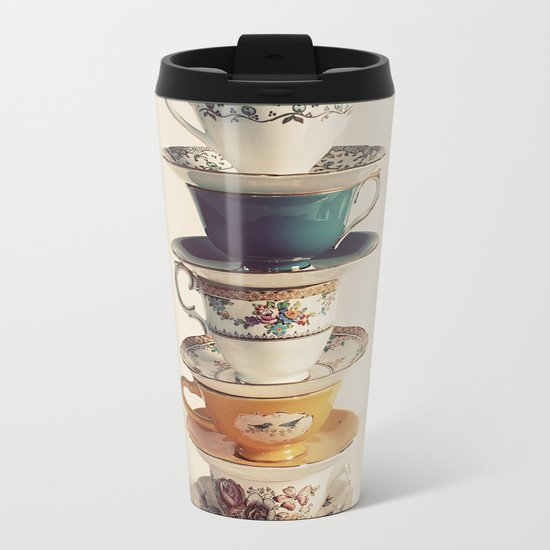 teacups Metal Travel Mug