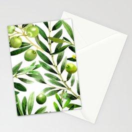 Olive Pattern 01 Stationery Cards