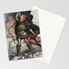 Arthur Rackham - Wagner's The Rhinegold & the Valkyries (1910) - To my hammer's swing hitherward Stationery Cards