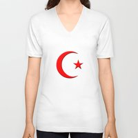 islam V-neck T-shirts featuring Islam symbol by gbcimages
