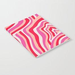 pink zebra stripes Notebook