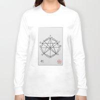 pentagram Long Sleeve T-shirts featuring Elemental Pentagram by sparkplug95