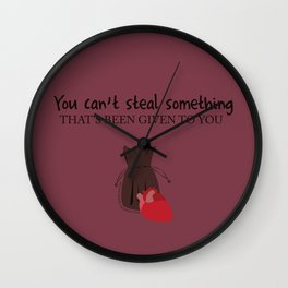 Outlaw Queen Quote (OUAT) Wall Clock