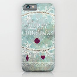 New Year. Grunge blue . iPhone Case