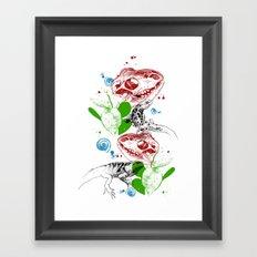 Lizards pattern (color) Framed Art Print