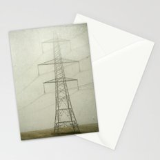 Pylons in the Mist Stationery Cards