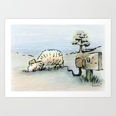 Electric Sheep Art Print