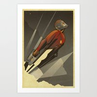 star lord Art Prints featuring The Star-Lord by Danny Haas
