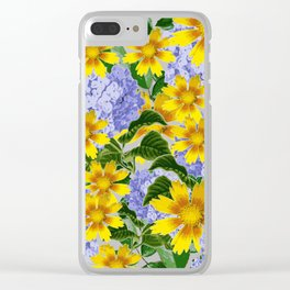 Yellow Spring Clear iPhone Case