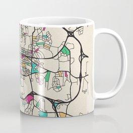 Colorful City Maps: Raleigh, North Carolina Coffee Mug