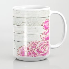 Wood & Roses Coffee Mug