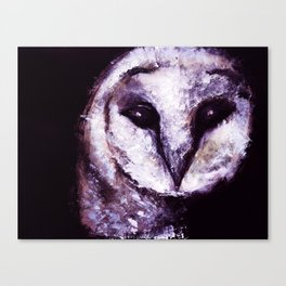 Barn Owl Painting by Lil Owl Studio Canvas Print