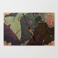 dick Canvas Prints featuring Moby Dick by Kindra Haugen