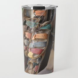 Colourful Hand Crafted Sandals Travel Mug
