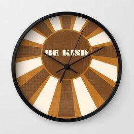 Be Kind brown Wall Clock