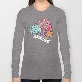 Yas Queen Eyptian Broad City Print Long Sleeve T-shirt