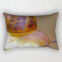 Snail on a Flower Rectangular Pillow