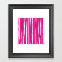 Vertical Living Hot Pink Framed Art Print