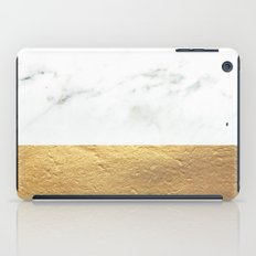 Color Blocked Gold & Marble iPad Case