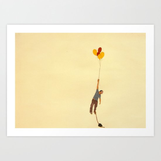 attempt to fly Art Print