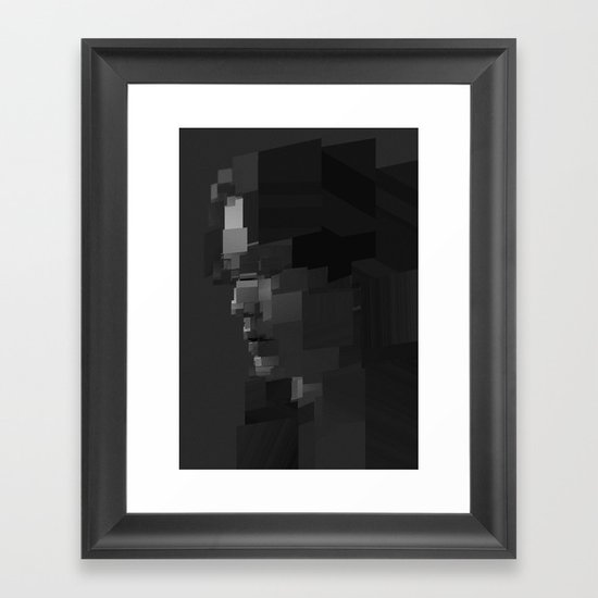 Facet Grey Framed Art Print