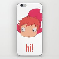 ponyo iPhone & iPod Skins featuring Ponyo by Etiquette