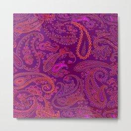 pink paisley Metal Print