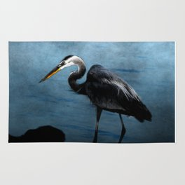 Great Blue On The Rocks Rug