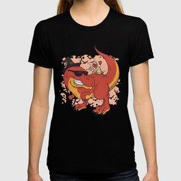 Pug & Dinosaur - Halloween design T-shirt