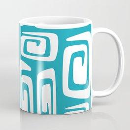 Mid Century Modern Cosmic Abstract 613 Turquoise Blue Coffee Mug