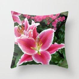 Stargazer Lily Magic Throw Pillow