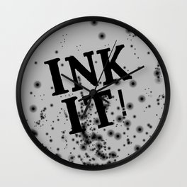 Ink it! Wall Clock