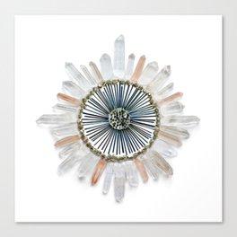 Stillness Crystal Grid Canvas Print