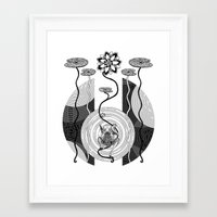 frog Framed Art Prints featuring Frog by alicanto
