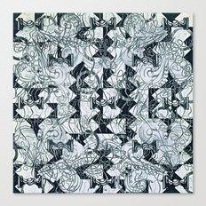 Black Burros Canvas Print