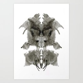 Rorschach Creation Art Print