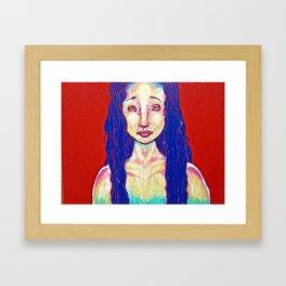 Woman Portrait Painting Framed Art Print