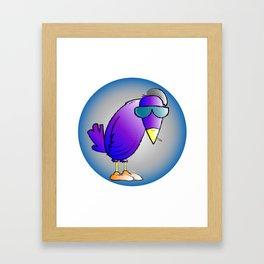 smokin' bird Framed Art Print