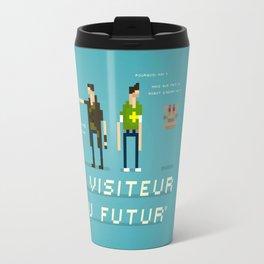 Pixel Art Tribute to Le Visiteur Du Futur Travel Mug