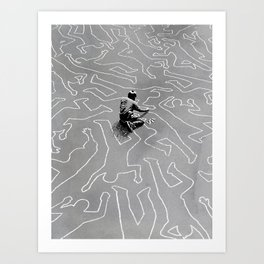 Draw the Line Art Print