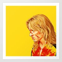kill bill Art Prints featuring kill Bill by Maioriz Home
