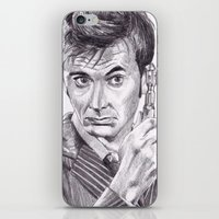 david tennant iPhone & iPod Skins featuring David Tennant as Doctor Who by Kate Murray