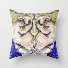 Cosmic Sacred Sound Throw Pillow