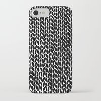 lawyer iPhone & iPod Cases featuring Hand Knitted Black S by Project M