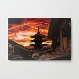 Kyoto sunset Metal Print