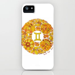 Gemini in Petrykivka style (with signature) iPhone Case