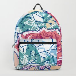 Blossoming rose Backpack